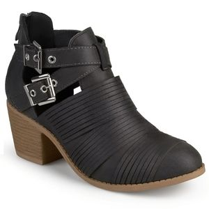 Gray Cut Out Ankle Boots from Journee Collection